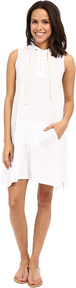 Sleeveless Hooded Henley Dress
