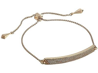 Michael Kors Precious Metal-Plated Sterling Silver Pave Slider Bracelet (Rose Gold) Bracelet