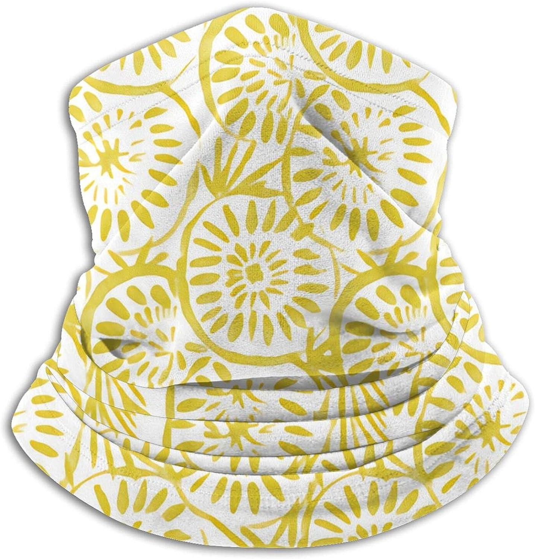 Medallions Yellow Bandanas Neck Gaiter Face Mask Scarf Face Shield