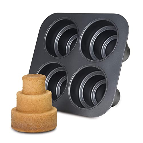 Chicago Metallic Multi Tier Cake Pan 4 Cavity, 10.6 x 9.60 x 4.5 Inch