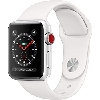Apple Watch Series 3 (GPS + Cellular, 38mm) - Silver Aluminum Case with White Sport Band