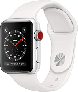 Apple Watch Series 3 (GPS + Cellular, 38mm) – Silver Aluminum Case with White Sport Band