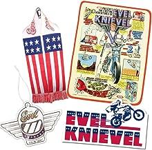 Crowded Coop, LLC Evel Knievel Accessory Bundle - Blanket/Sticker/Air Freshener/Scarf