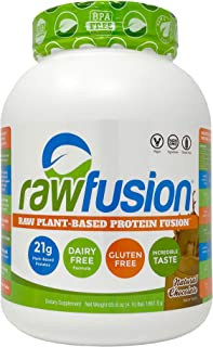 SAN Nutrition RawFusion Plant Protein Powder, Natural Chocolate, 65.6 Ounce