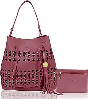 KLEIO Women's With Girls' Tote Bag With Handbag (Set of 2)