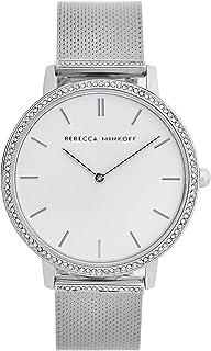 Rebecca Minkoff Women's Major Quartz Watch with Stainless Steel Strap, Silver, 16 (Model: 2200391)