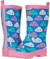 Cheerful Clouds Shiny Rain Boots (Toddler/Little Kid)