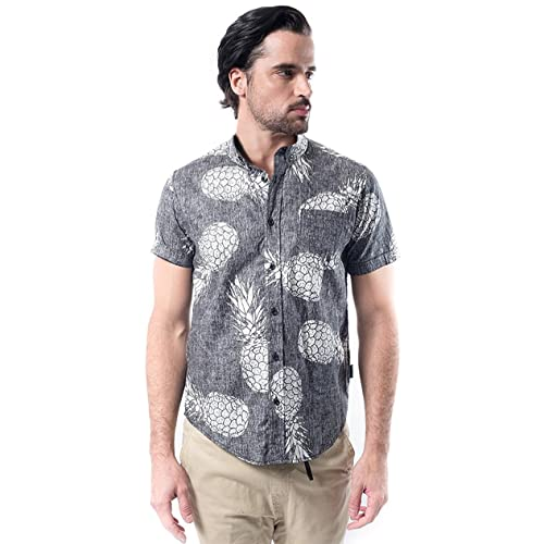 6efc200b3d0791 Brooklyn Athletics Men s Hawaiian Aloha Shirt Vintage Casual Button Down Tee