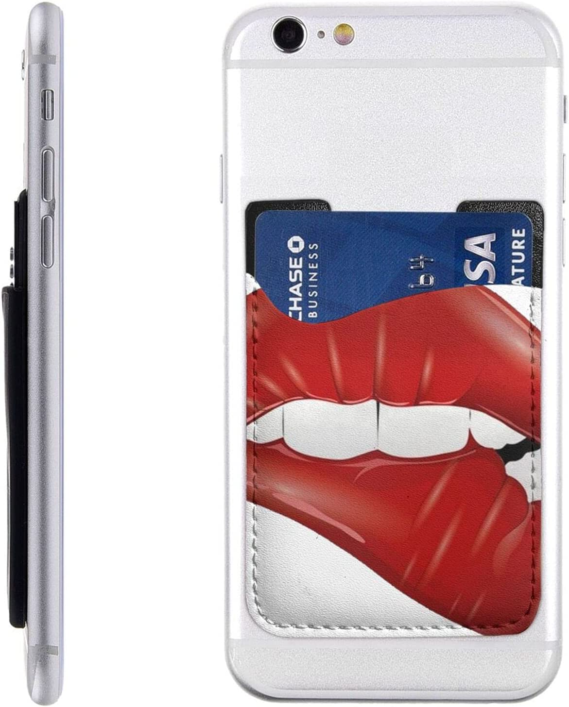 Lip Phone latest Card Holder Cell Stick Wallet Mob Max 89% OFF Sleeve On