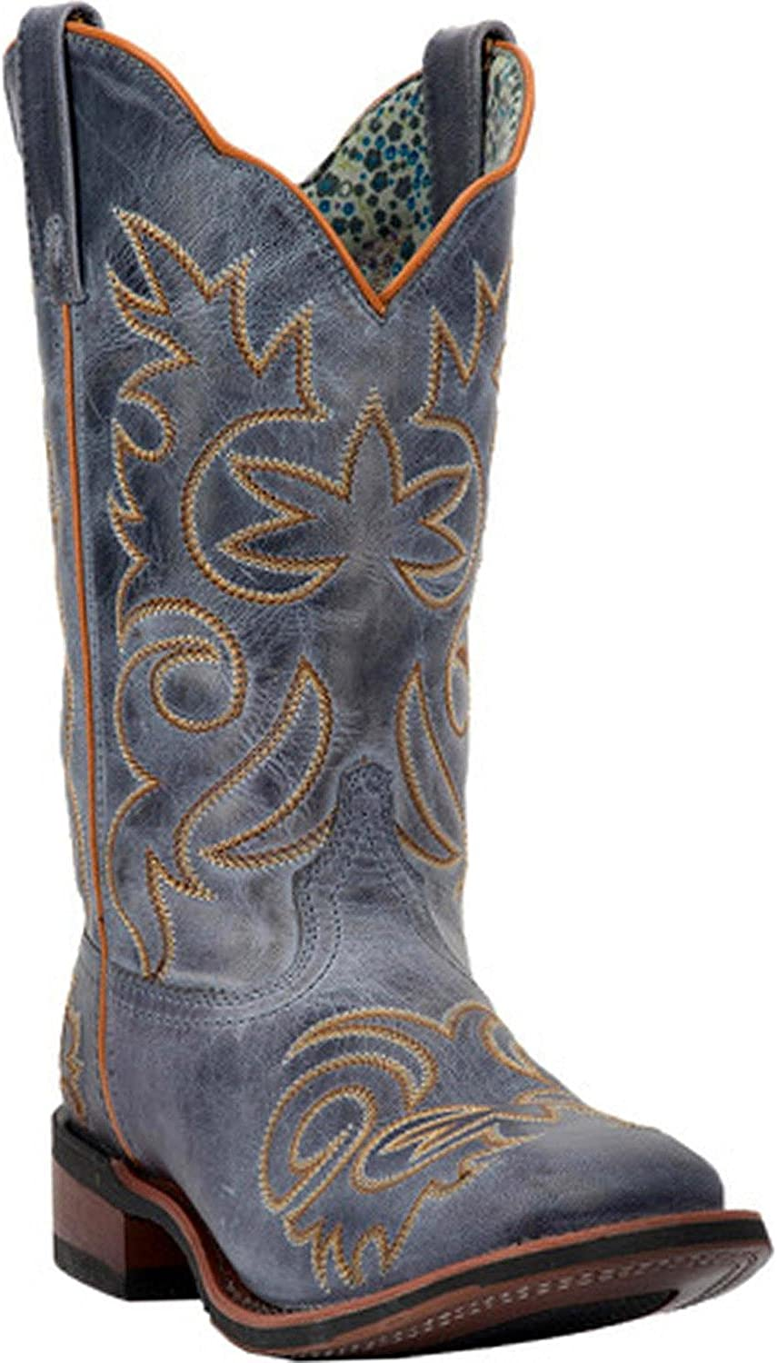 Laredo Women's Ella Vintage Navy Stockman Boot Square Toe - 5676