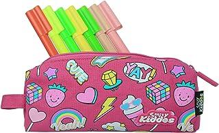Smily Kiddos   Smily Pencil Pouch (Pink)   kids Pencil Pouch   School Pencil Pouch   Pencil Pouch for kids   Purple Pencil...