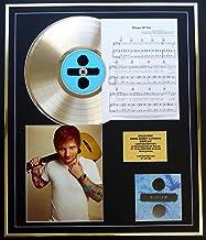 ED Sheeran/CD Disco Gold, Song Sheet & Photo Display/LTD. Edición/COA/Album Divide/Song Shape of You