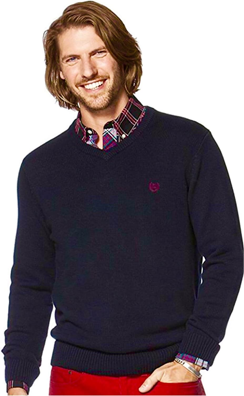 Chaps Men's V-Neck Cotton OFFicial site Popular shop is the lowest price challenge Solid Sweater
