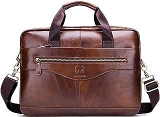 FANDARE Aktetas voor heren van 12,9 inch laptop, schooltas, werktas, leren handtas, zakelijke schoudertas, zakelijke tas, ...