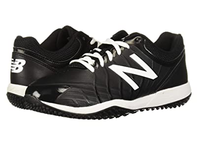New Balance Kids 4040v5 Turf Baseball (Little Kid/Big Kid) (Black/White) Kids Shoes