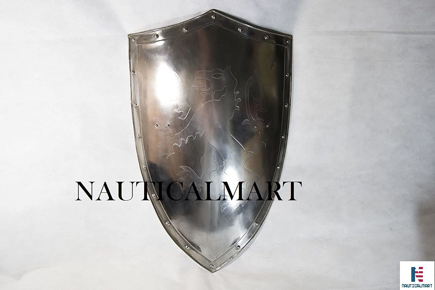 NAUTICALMART Full Size and Full Functional Knights Templar Suit of ArmorShield Only