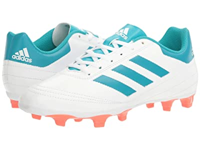 adidas Goletto VI FG (White/Energy Blue/Easy Coral) Women