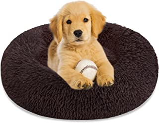 Calming Dog Bed Cat Bed Donut Cuddler, Anti Anxiety Dog Bed for Small Medium Large Dogs Cats, Machine Washable Round Warm ...