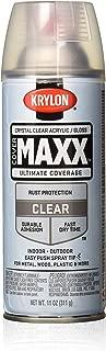 Krylon K09116000 COVERMAXX Spray Paint, Gloss Crystal Clear Acrylic, 11 Ounce