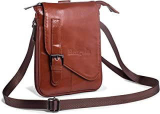 Hengwin Crossbody Shoulder Bag Men Purse Leather Phone Holster iPhone Pouch Case
