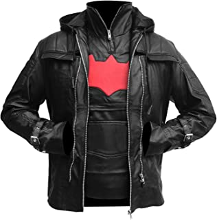 Bat-Man Arkham Knight Black Hooded Men Vest and Jacket 2 in 1