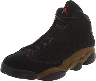 Nike Mens Air Jordan 13 Retro Olive Black/Red-Olive Suede Size 11.5