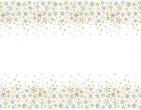 Unique Party 77123 - Plastic Silver and Gold Snowflakes Christmas Tablecloth, 7ft x 4.5ft