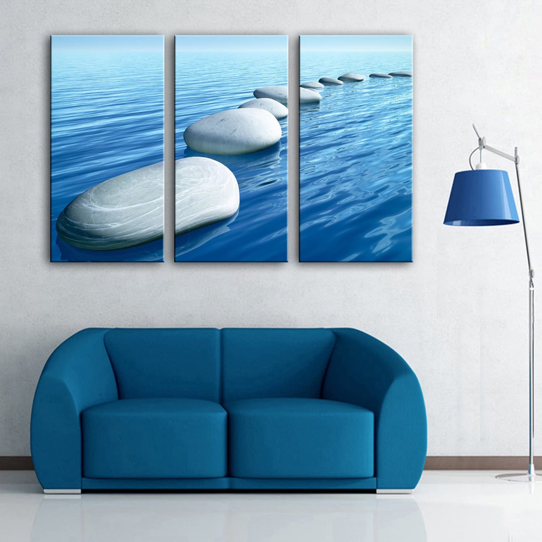 T&Q T&Qing Wasser Kiesel dekorative Malerei, Rahmenlos Gemlde, dekorative Malerei Das Wohnzimmer Studie, 24  70  3 B07KN2YNFF | Shop