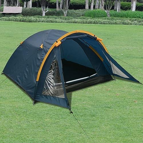 WEILANDEAL Tente pour 3 Personnes BleuMateriau   Polyester + Fibre de Verre Tente Exterieur