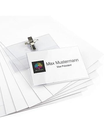 Funda con imperdible para identificaci/ón Pavo Premium 50 unidades, 40 x 75 mm