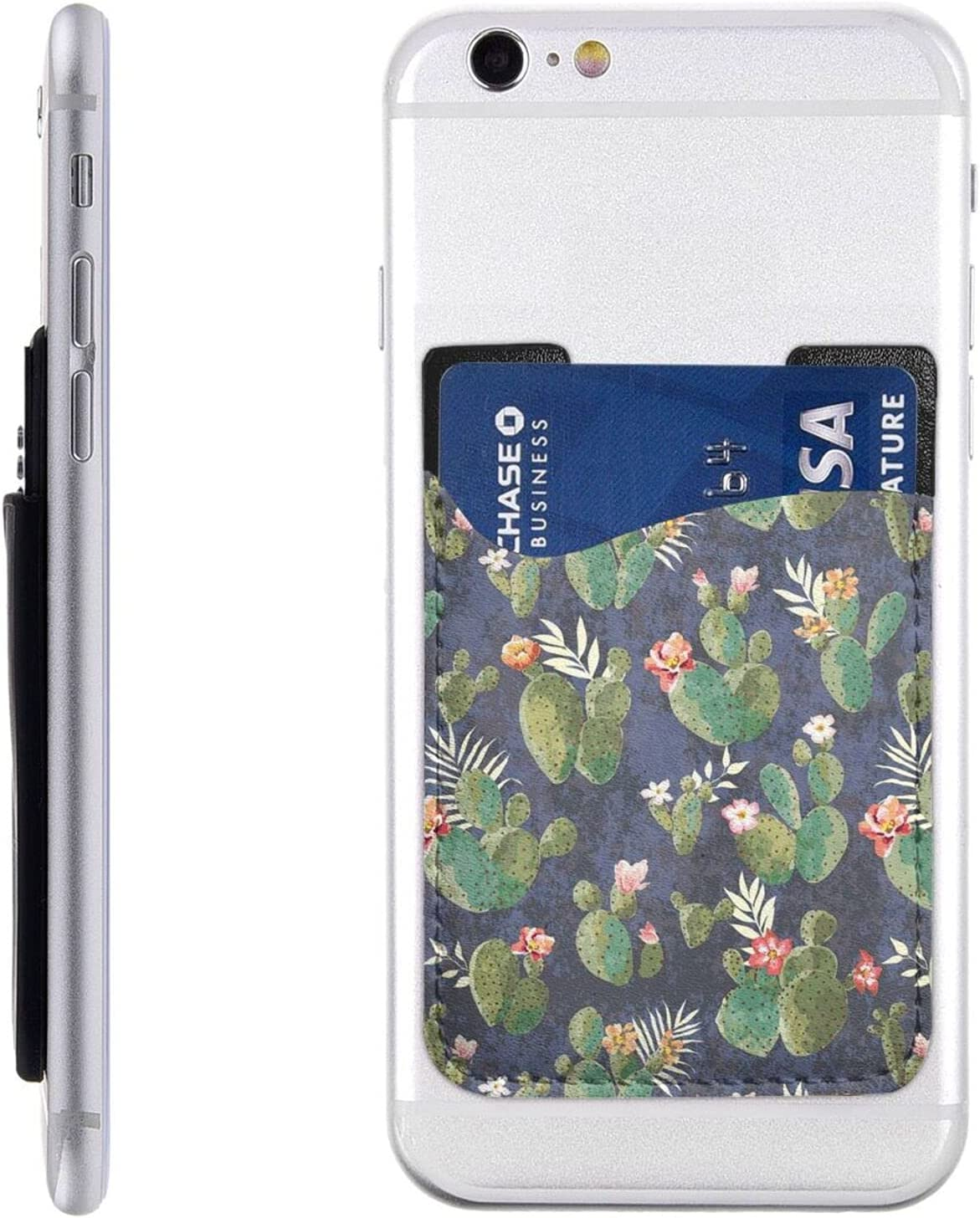 Watercolour Cactus Phone Card Holder Wa Online OFFicial shop limited product Stick Cell On