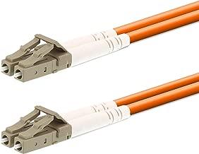SpeedyFiberTX - 1 Meter Multimode OM1 62.5/125 Duplex LC to LC Fiber Optic Patch Cable (Orange)