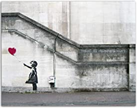 Banksy - There is Always Hope - 11x14 Unframed Art Print - Makes a Great Inspirational and Artistic Gift Under $15