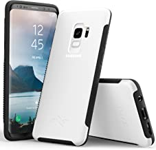 Zizo Flux 3.0 Series Compatible with Samsung Galaxy S9 Case Frosted Rubber Back with Tempered Glass Screen Protector Clear