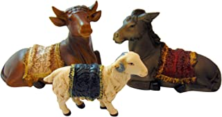Westman Works Ox and Donkey with Sheep Nativity Animal Set Collectible Figurine Lot