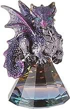 StealStreet 71698 3.5 Inch Purple Baby Dragon on Pyramid Glass, Statue Figurine