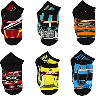 Mattel Hot Wheels Boys 6 pack Socks (Little Kid/Big Kid)