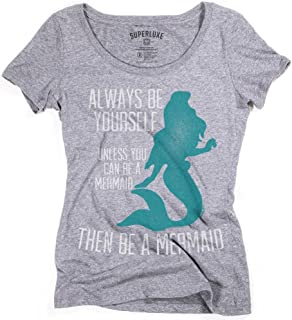 Womens Funny Be Yourself Unless You Can Be A Mermaid Tri-Blend T-Shirt