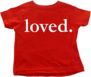 Custom Kingdom Kids Valentines Day Loved. Shirt Boys and Girls T-Shirt