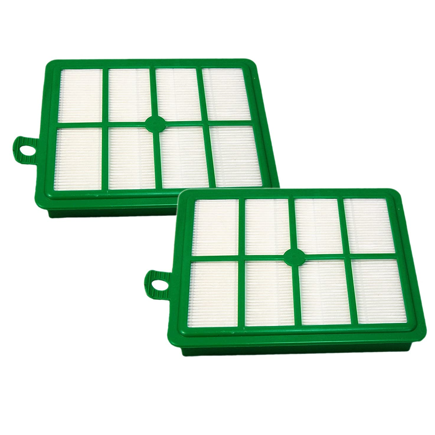 HQRP 2-Pack Hepa Filter for Electrolux Harmony, Oxygen, Oxygen Ultra, Oxygen 3 Ultra Canister Vacuum Cleaners plus Coaster