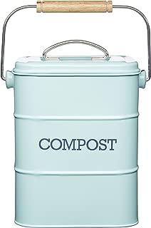 Kitchen Craft Living Nostalgia Vintage Blue Compost Bin LNCOMPBLU