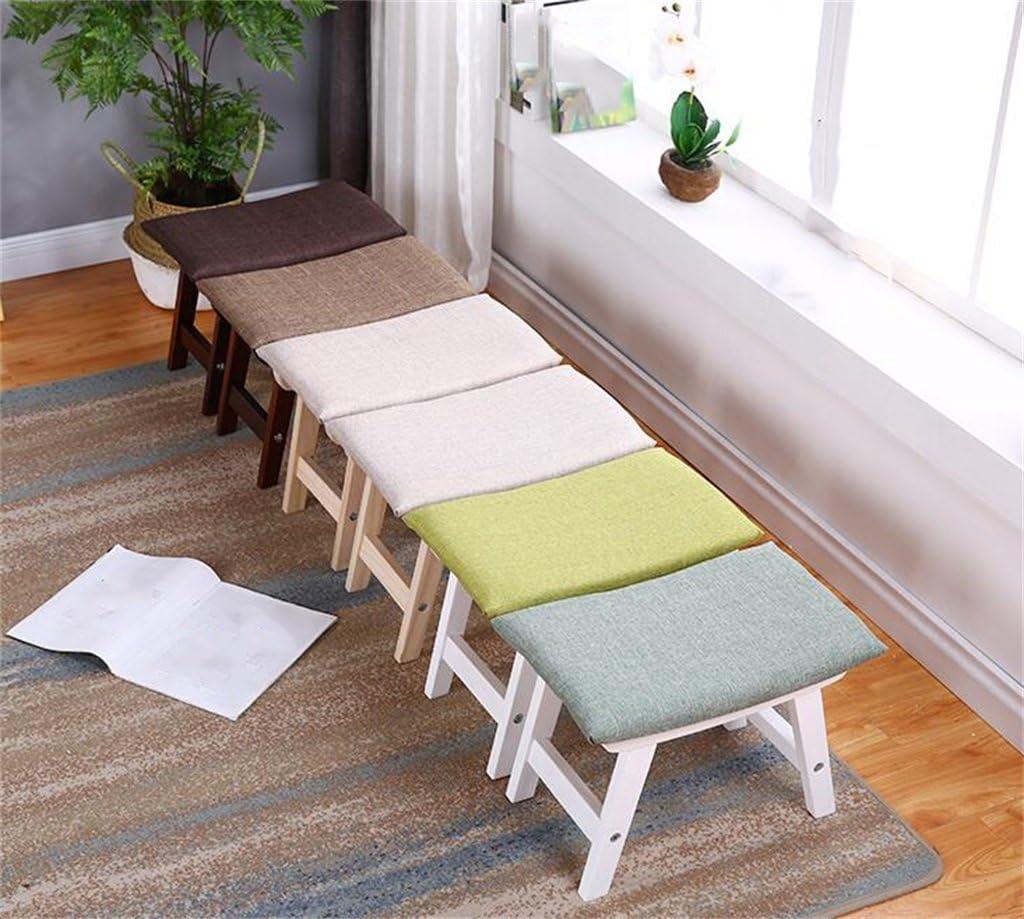 Wooden stool Canapé Tabouret Table Basse Tabouret Tabouret en bois massif Tabouret/Idées Mode/Tabourets/Maison Tissu Salon Chaussures Tabouret (Couleur : #1) #4