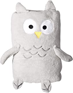 Quiltex Girls' Toddler Fuzzy and Cozy Plush Animal Blankets, owl, ONE Size