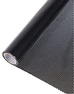 HOHOFILM Perforated Mesh Window Film Self Adhesive Black Dotted One Way Film Privacy Stickers for Home Office 12