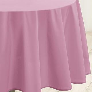douceur d'intérieur 1721456 Essentiel Nappe Polyester Uni Dragée 140 x 200 x 200 cm