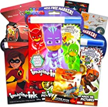 Disney Magic Ink Coloring Book Set - Bundle of 3 Imagine Ink Books for Boys Kids Toddlers Featuring PJ Masks, Paw Patrol and The Incredibles with Invisible Ink Pens and Stickers