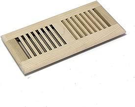 WELLAND 4 Inch x 12 Inch Maple Hardwood Vent Floor Register Self Rimming Unfinished