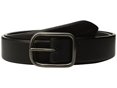 Shinola Detroit Bridle 1 1/2 Center Bar Beveled Edge Belt (Black) Men