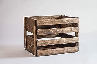 Darla'Studio 66 Medium Stained Vinyl Record Holder Wood Crate