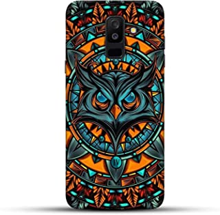 Shopezzz Bazaar Angry Owl 3D Printed Hard Mobile Back Cover Case for Samsung Galaxy J8